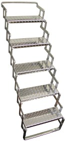 "Five Step Aluminum Scissor Stair, 18"" wide / AS05"