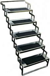 "Five Step Aluminum Scissor Stair, 24"" wide / AS25"