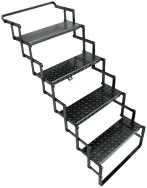 "Four Step Steel Scissor Stair, 18"" wide / SS04"